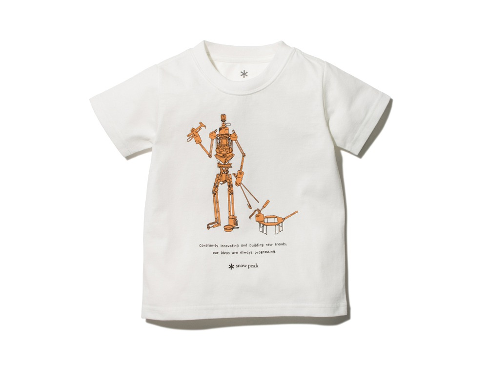 Kids The Camping Machine Tee 4 White