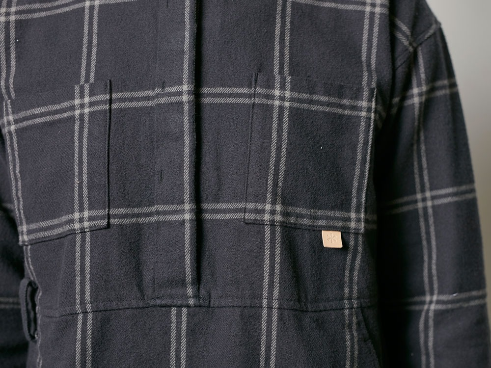 W's Check Heavy Flannel Dress 1 Black5