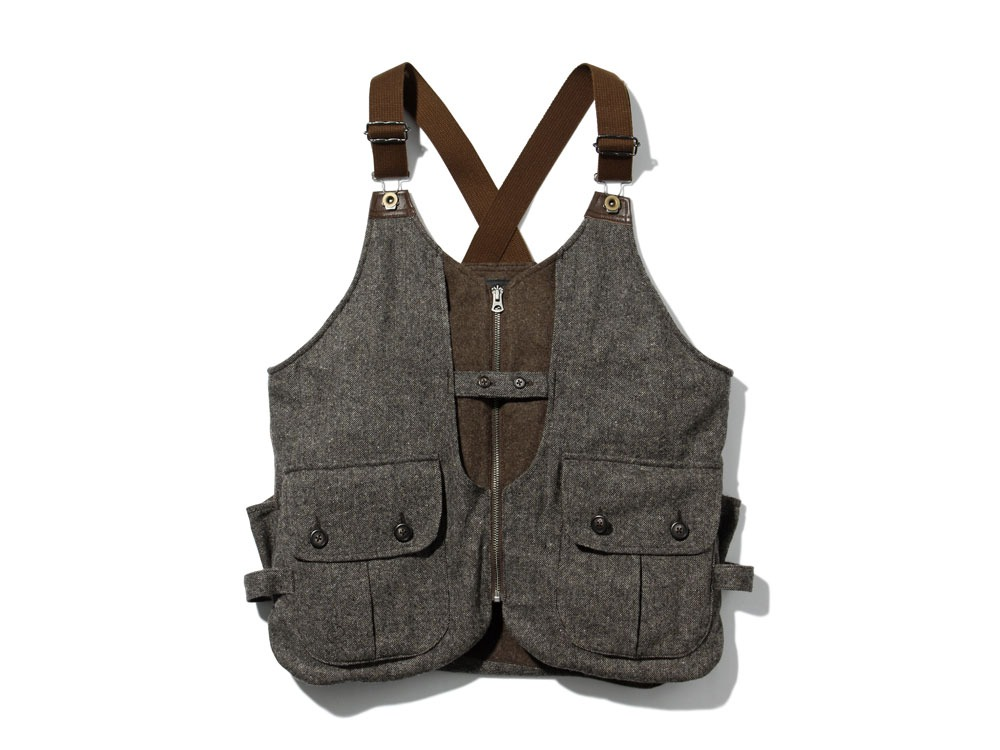 Wool TAKIBI Vest S Brown0