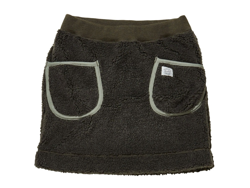 Soft Wool Fleece Skirt 1 Olive0