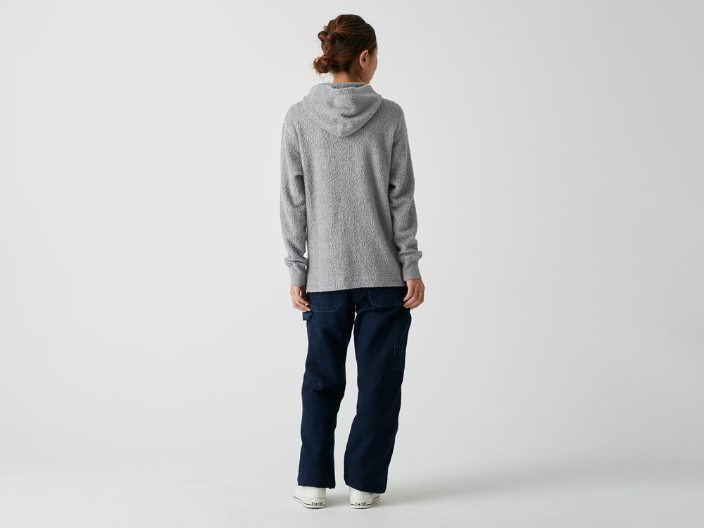 Long Loop Sweat Hoodie M Grey3