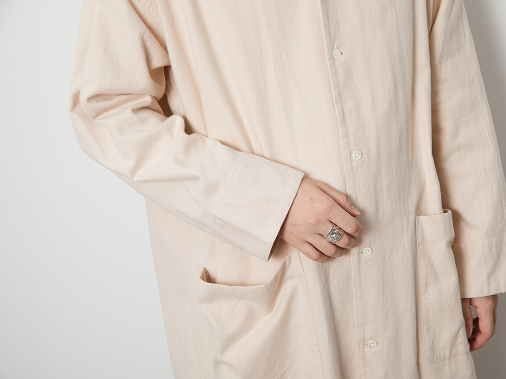 Organic Cotton Suede Long Shirt M BK