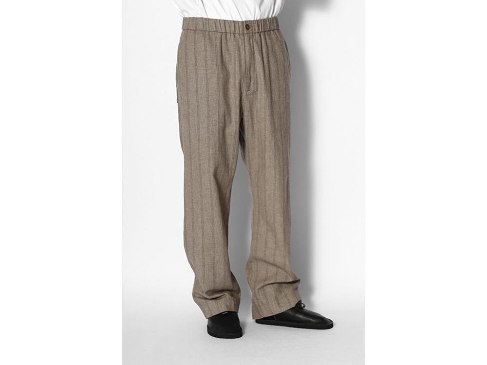 C/L Merange Stripe Easy Pants M Olive