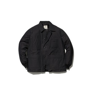 Waxed C/N Down Jacket L Black