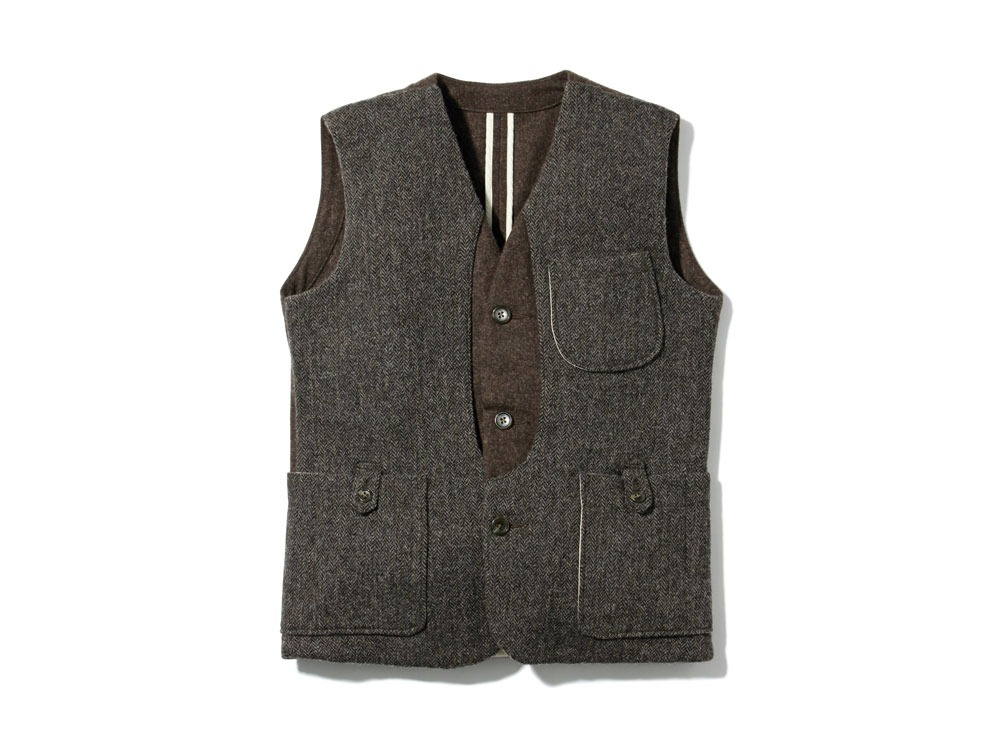 Camping Wool Vest 1Brown