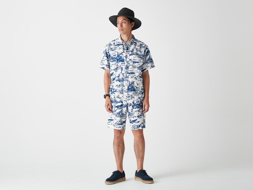 Camp Aloha Shorts S Olive1
