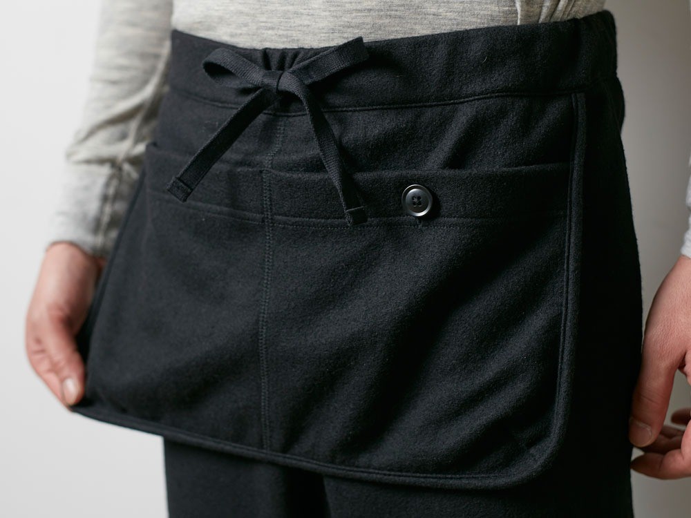 Wool Tight Knit Pants L Black5