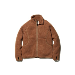 Thermal Boa Fleece Jacket M Brown