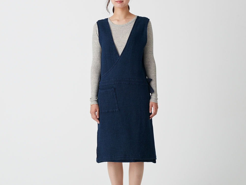 Dobby Denim Dress 3 Indigo0