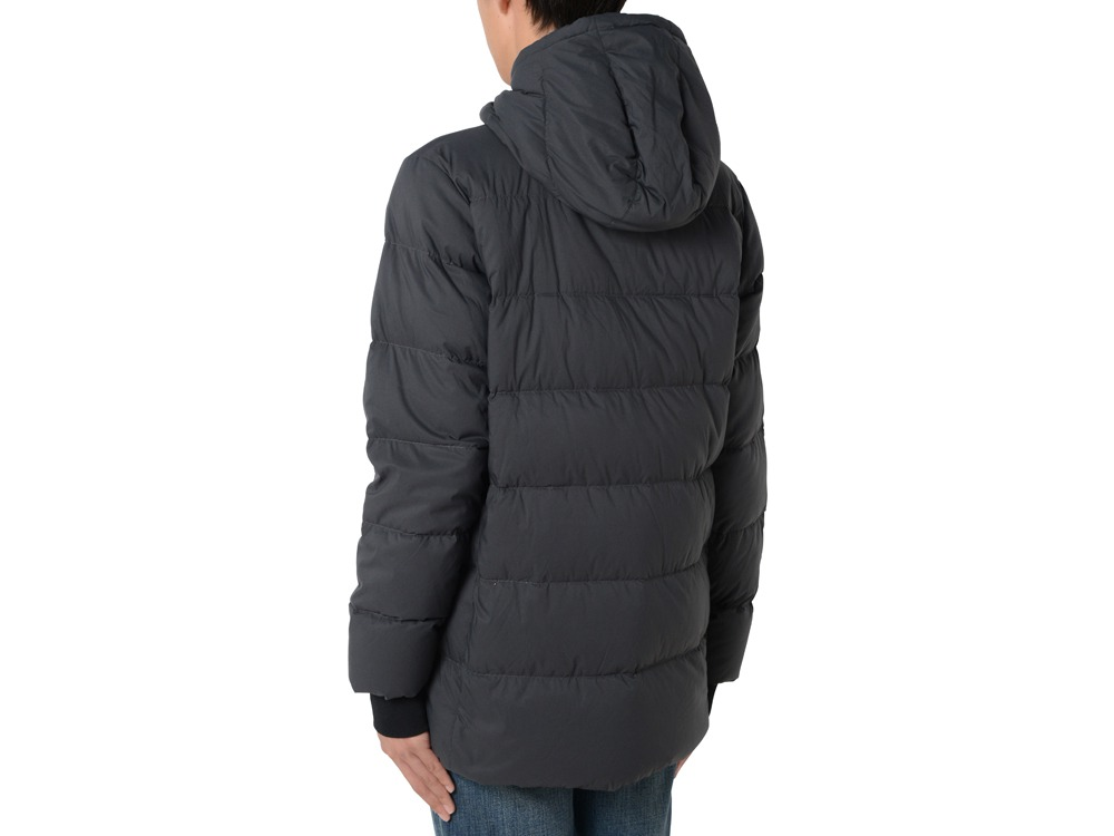 ピローダウンジャケット XS ブラック
