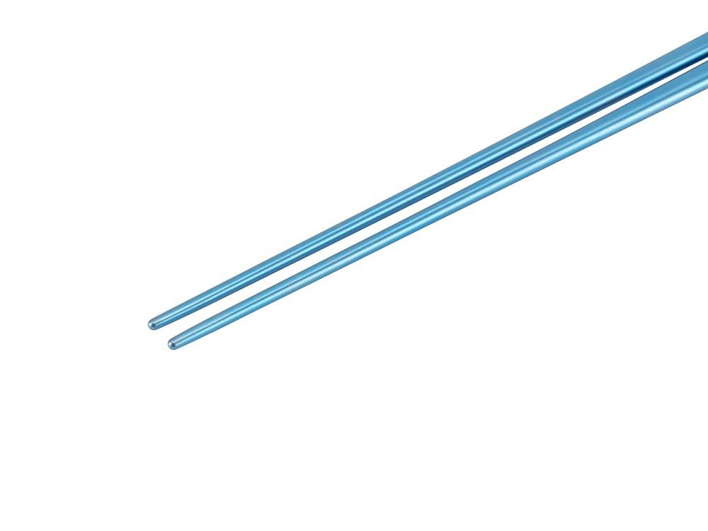 チタン先細箸ブルー