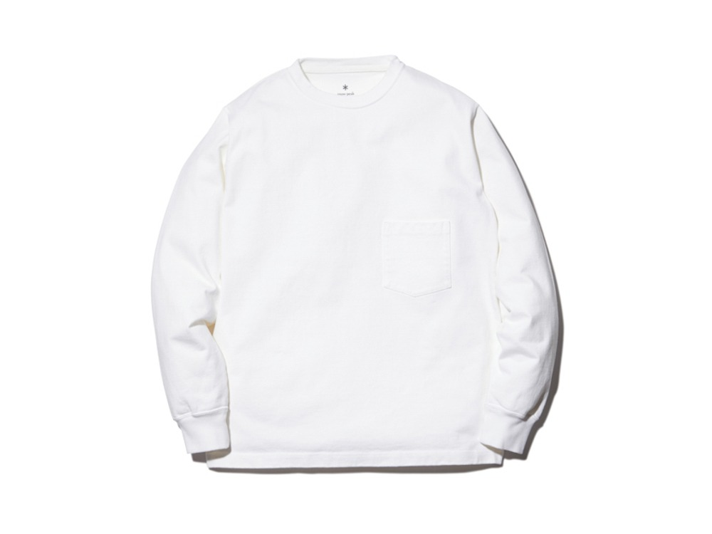 Heavy Cotton L/S Tshirt M White