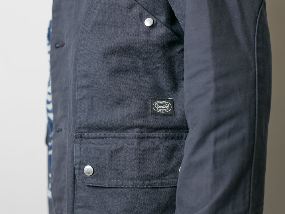 TAKIBI Shop Coat S Navy9
