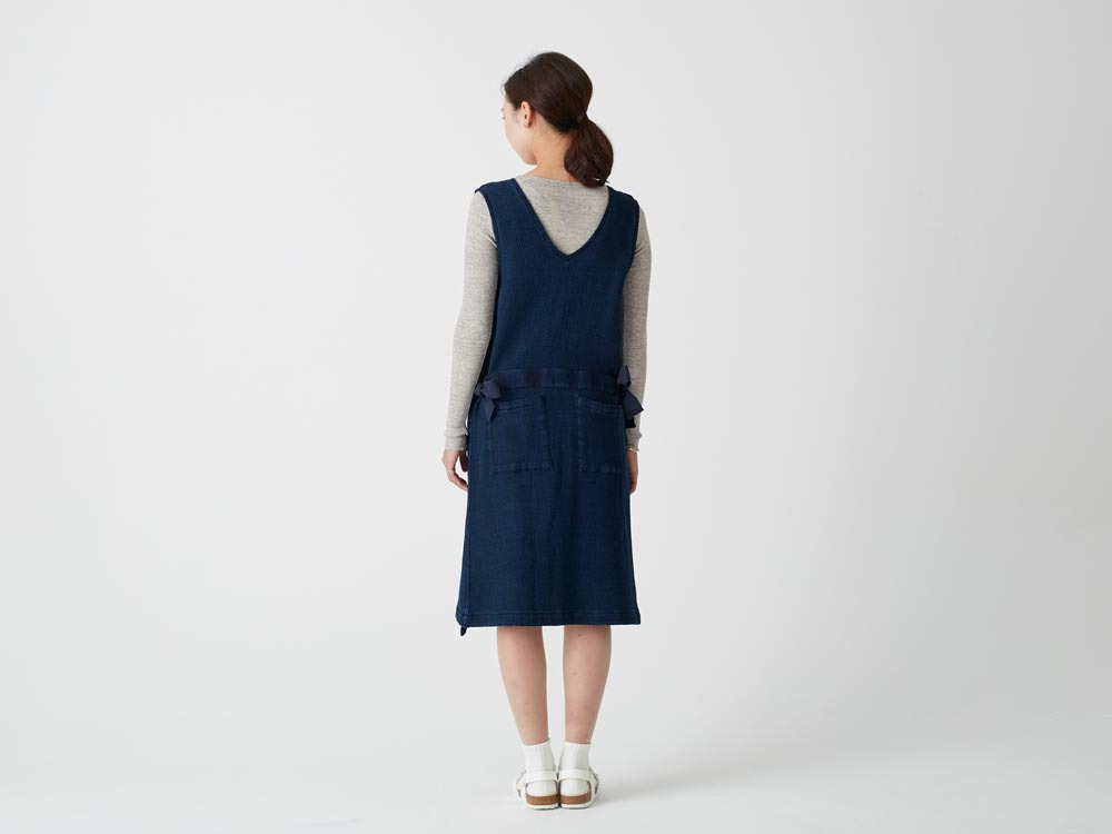 Dobby Denim Dress 3 Ecru3