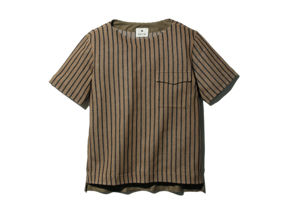 CottonLinenStripedTshirt XL Brown×Black0