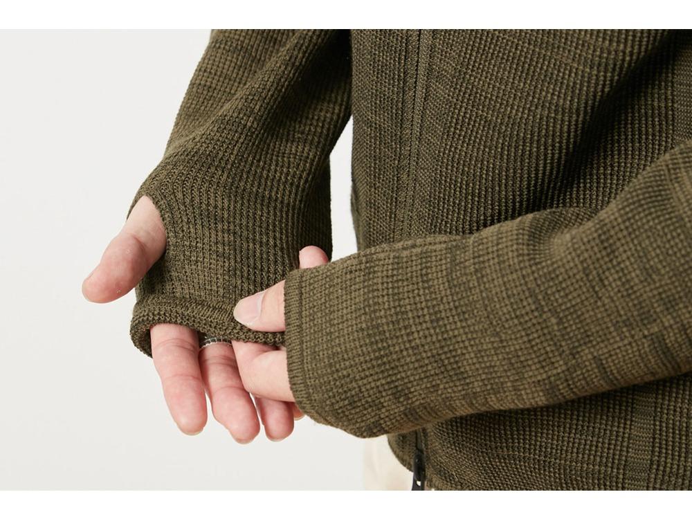 ホールガーメント ニットジャケット S Olive