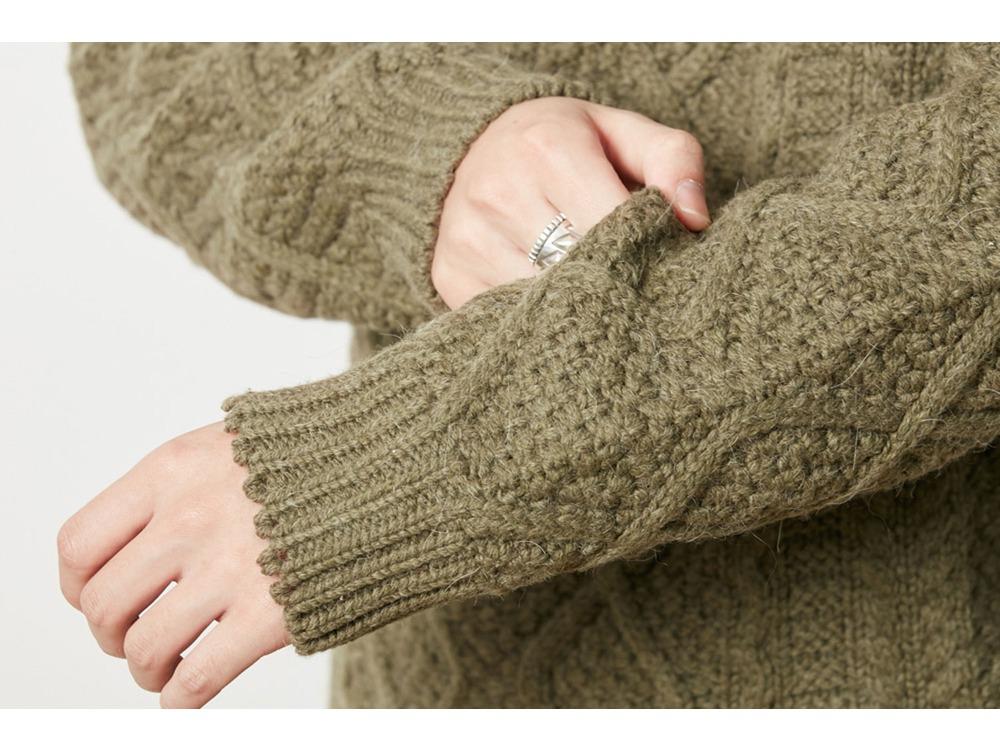 Alpaca Knit Pullover M Brown