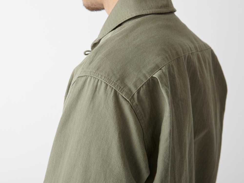 Herringbone Field Shirt M Olive7