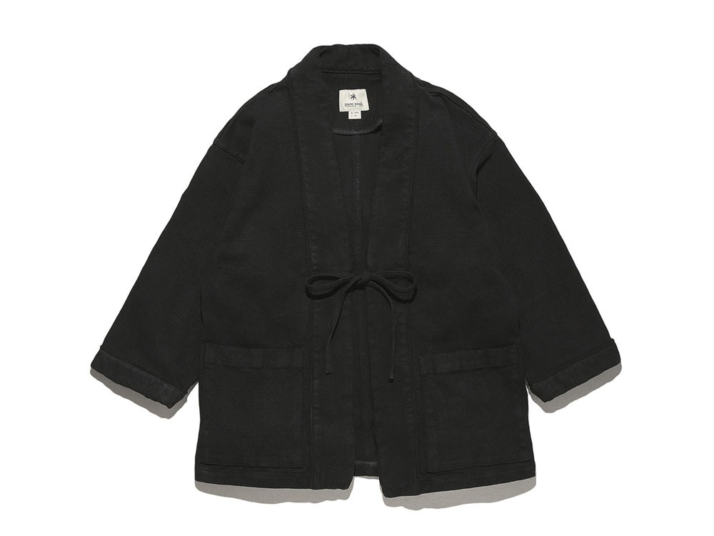 Linen HAORI Jacket M Black0