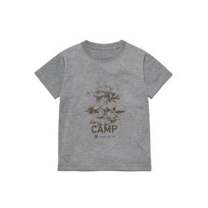 キッズキャンプフィールドプリントティーシャツ