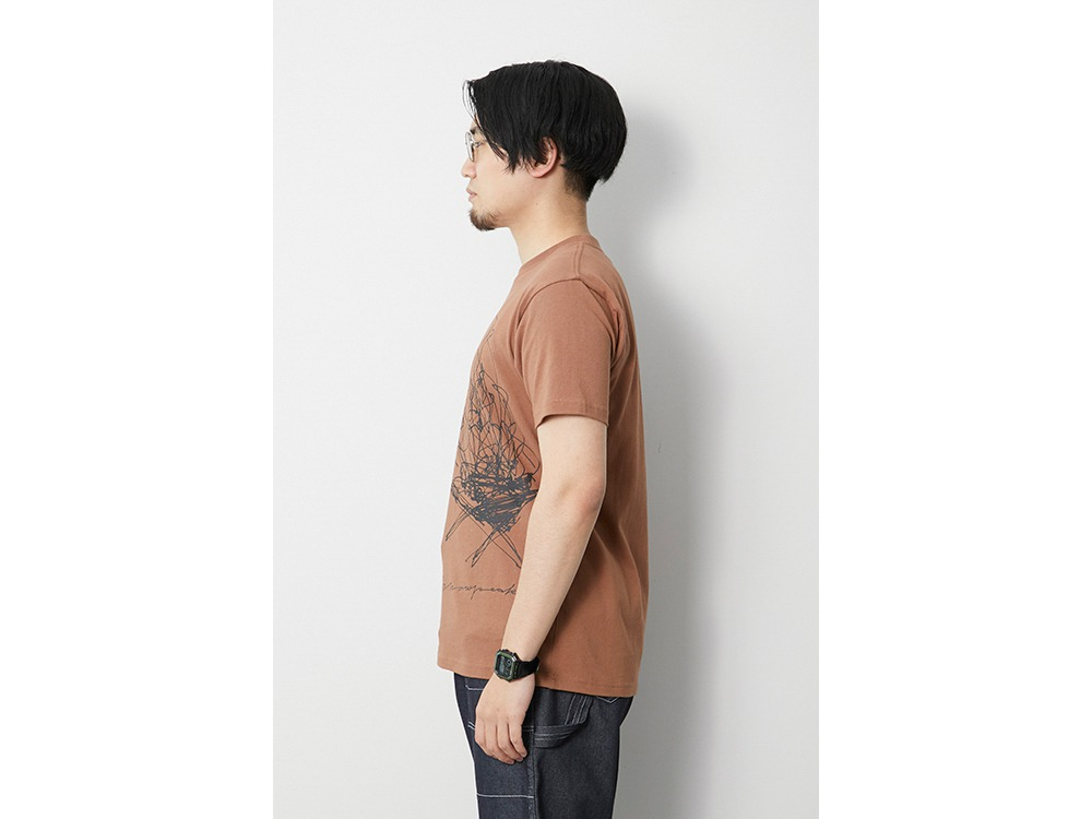 TAKIBI Graphic Tee M Orange