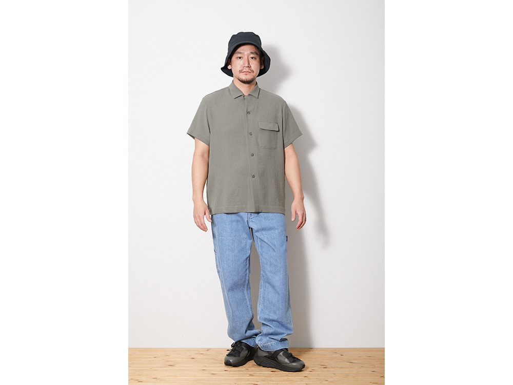 Quick Dry Crepe Weave Soft Shirt L BK