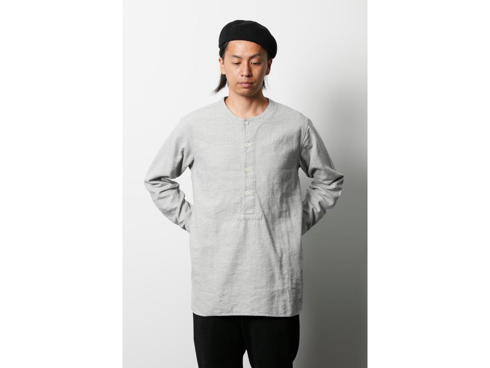 コットンウール フランネルスリーピングシャツ M グレー
