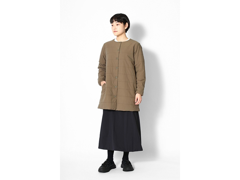 Flexible Insulated Long Cardigan 1 Brown