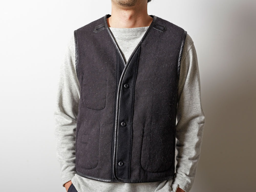 Wool Military Lining Vest S Brown9