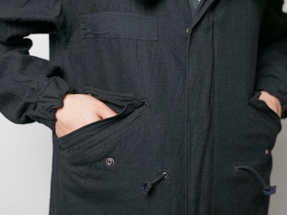 ウールミリタリーライニングコート 1 Black8