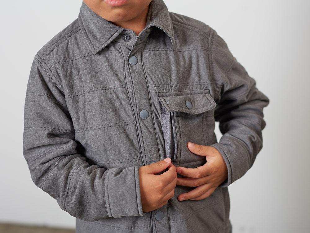 KidsFlexibleInsulatedShirt 4 M.Grey5