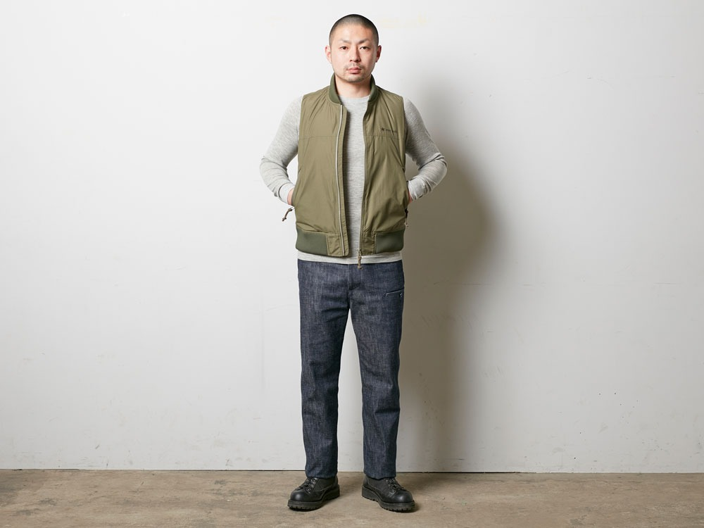 Denim Military Pants 1 Indigo1