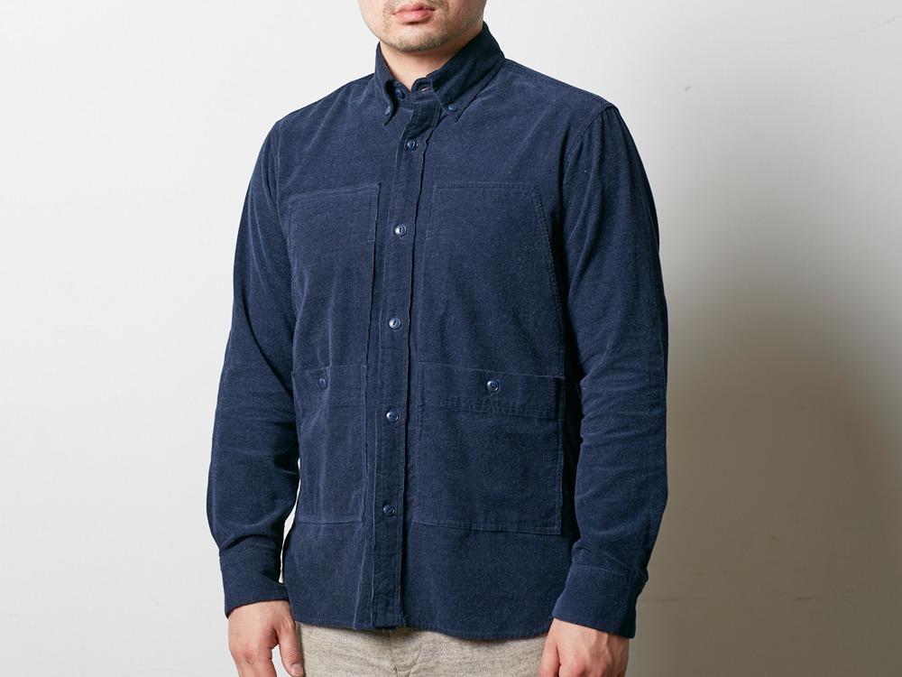 Camping Corduroy Shirt 2 Navy4