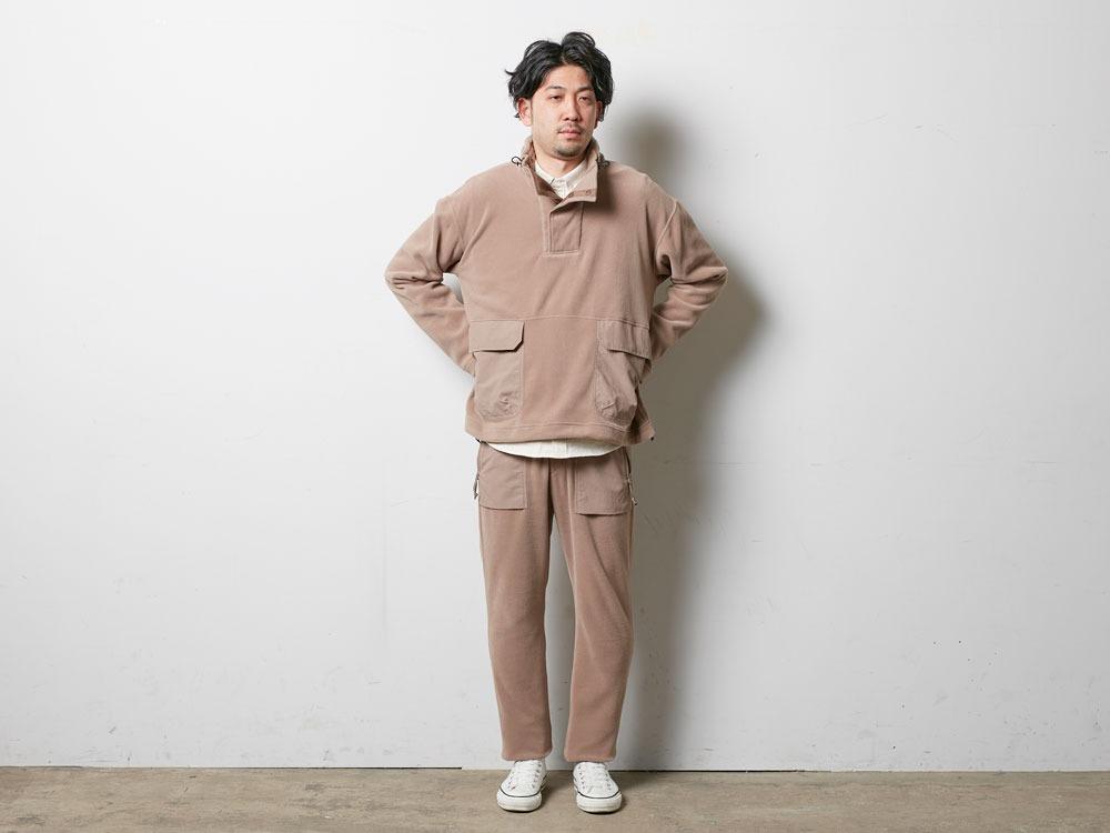 R/Pe Fleece Pullover 2 Brown1