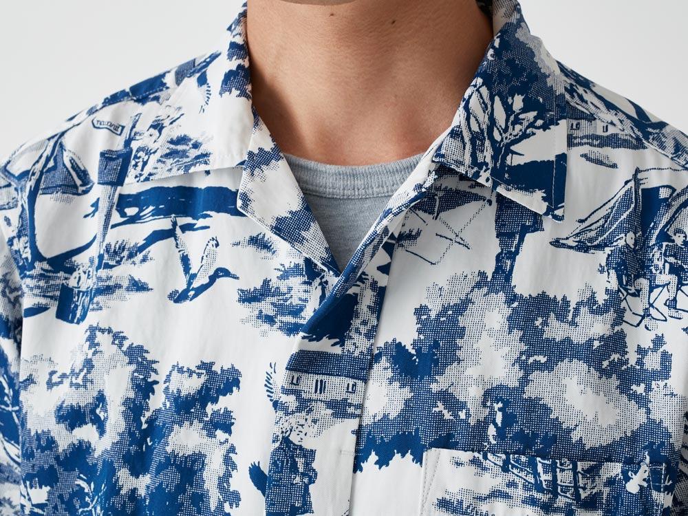 Camp Aloha Shirt M Olive4
