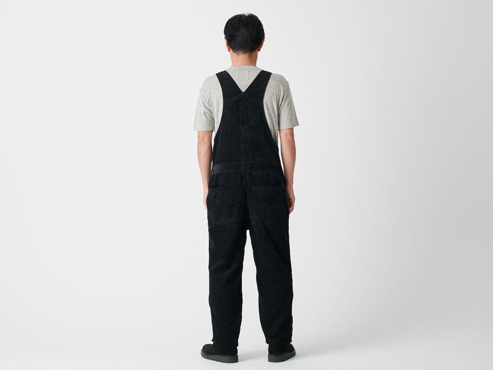 Linen corduroy overalls M Black3
