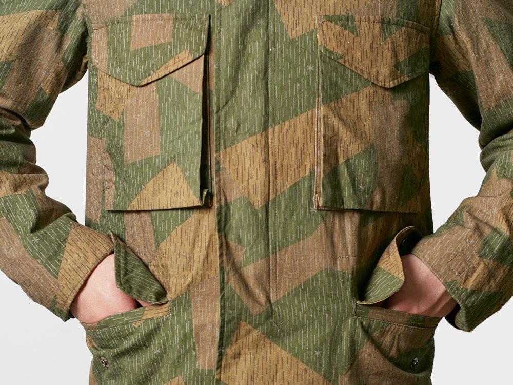 Printed Military Jacket L Khaki5