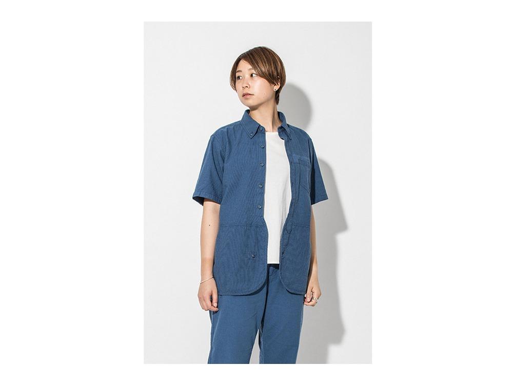 現代のワークシャツS/S  S/XS Blue