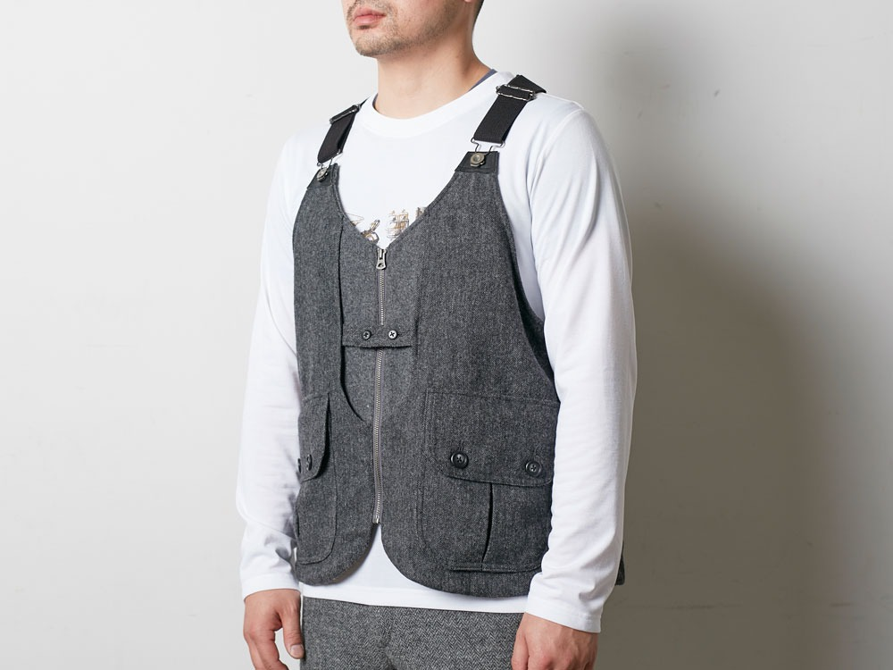 Wool TAKIBI Vest S Brown5