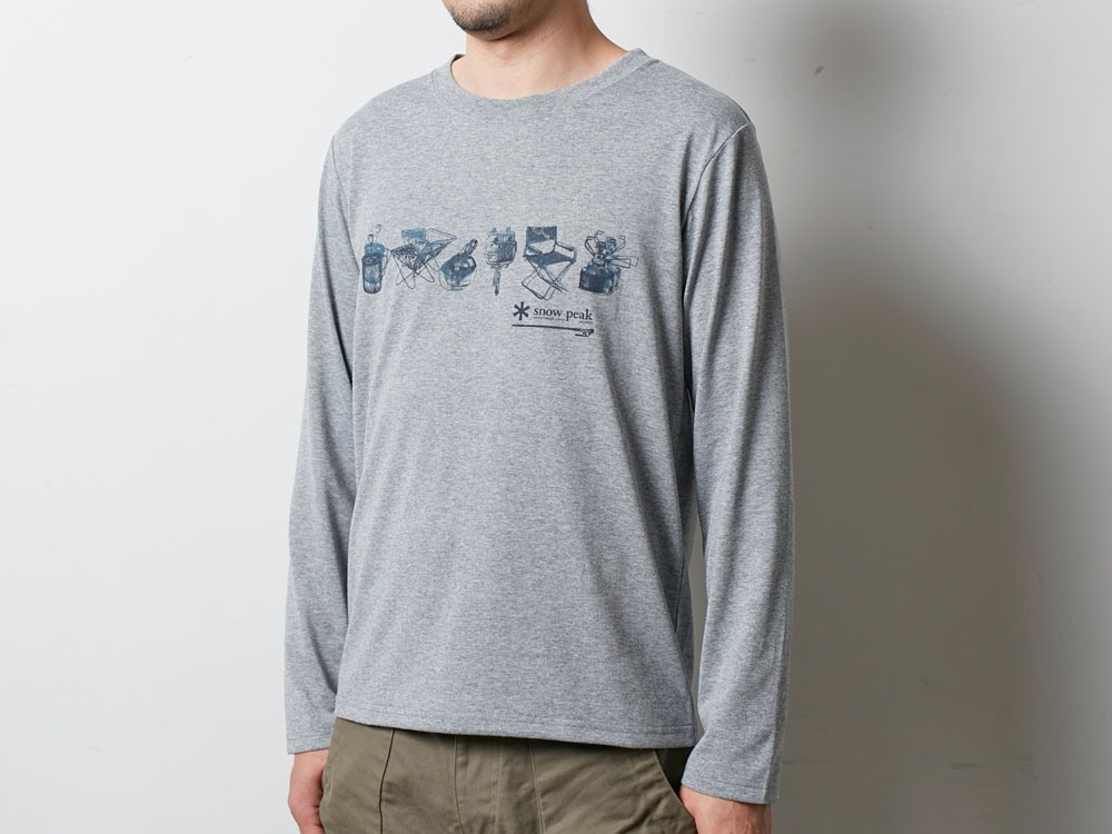 SP Gear Long Tshirt M Melange Grey4