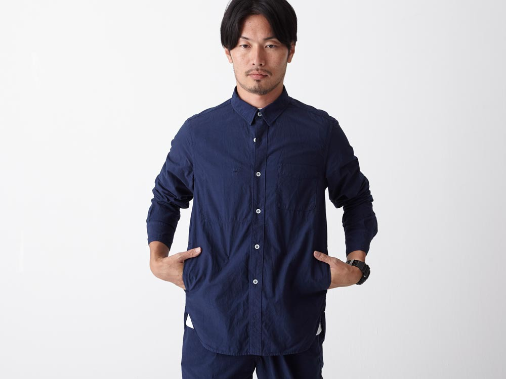 Organic Typewriter Shirt S Navy4