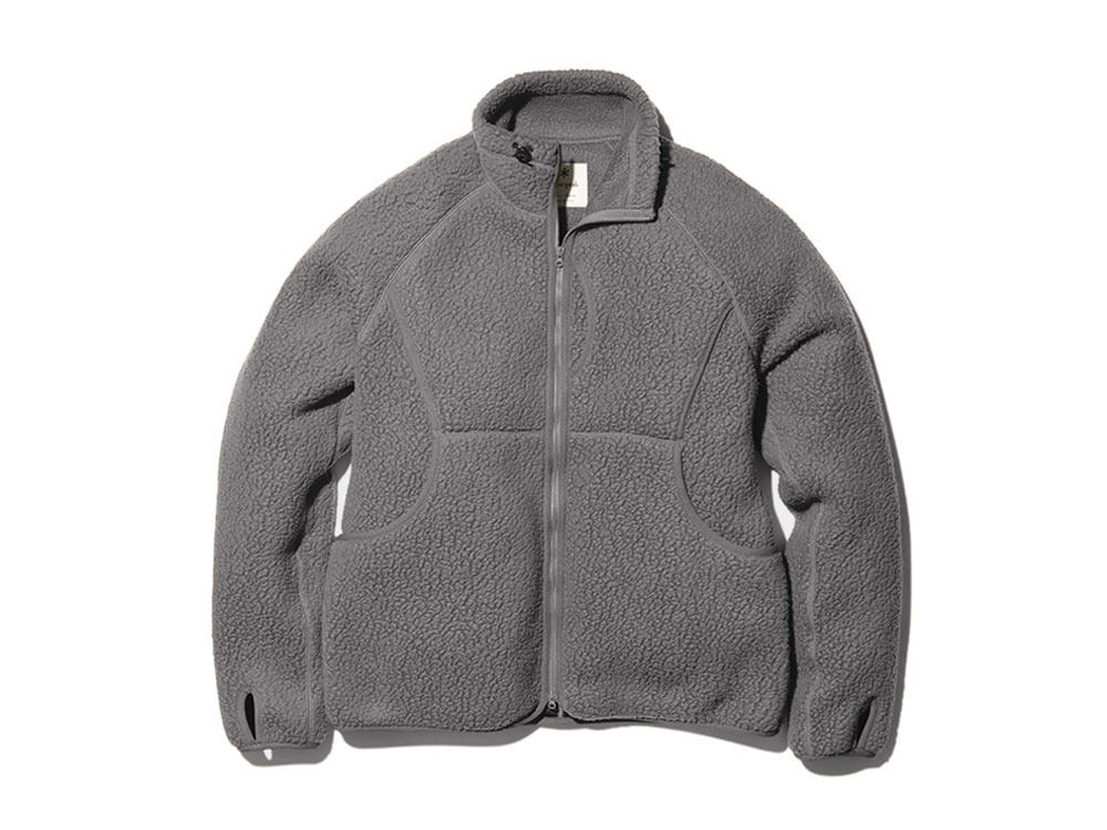Thermal Boa Fleece Jacket L Grey