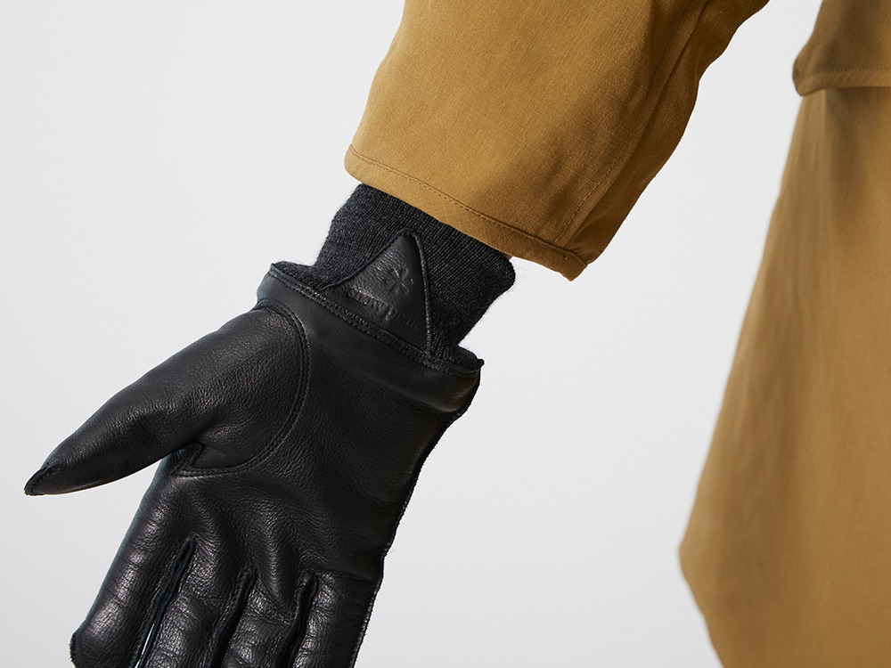 Military Leather Gloves L Black