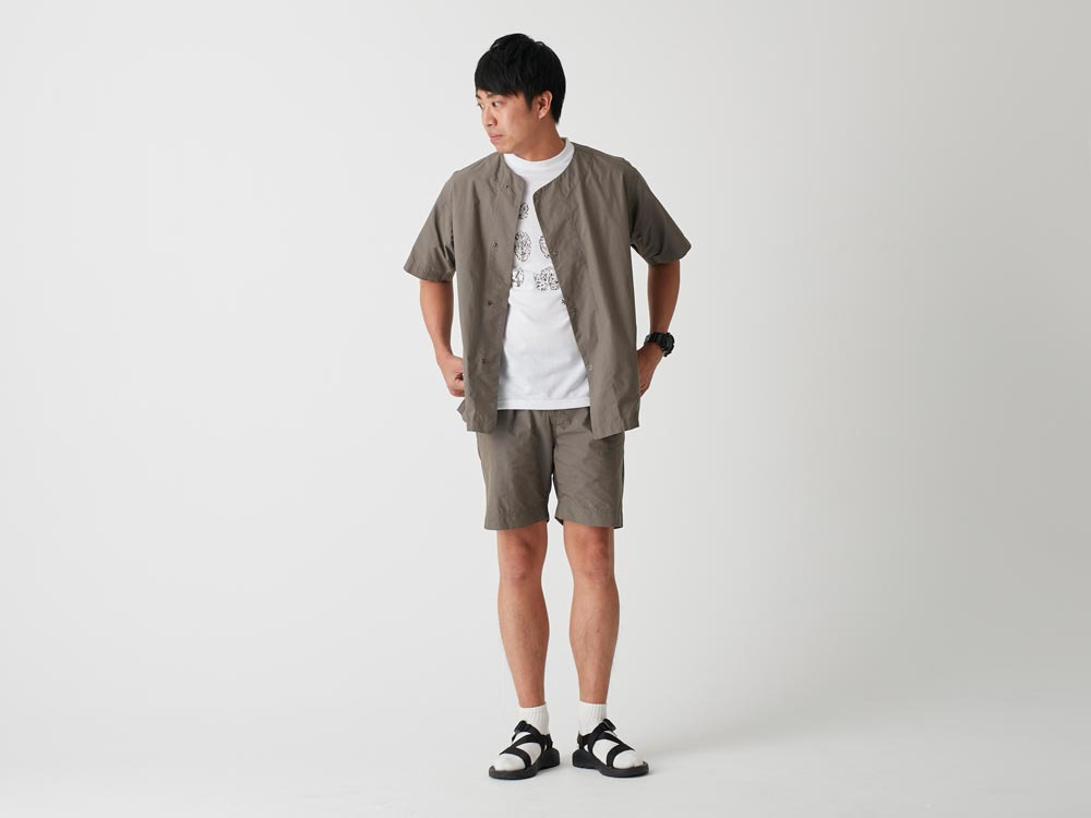 C/N Typewriter Shorts 1 Olive1