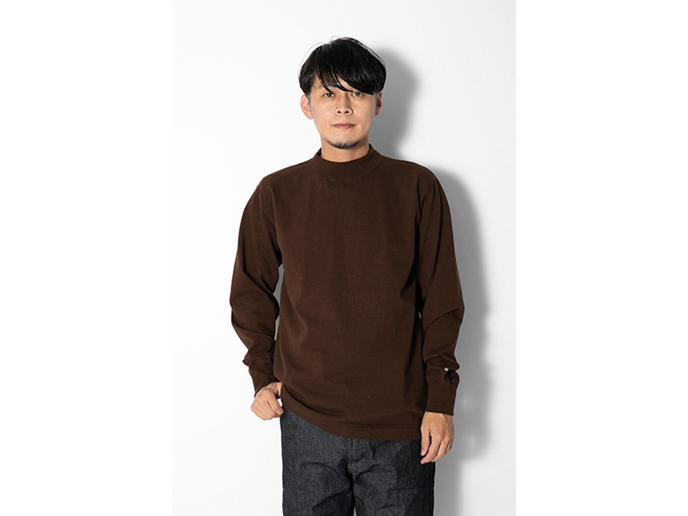 Heavy Cotton Mockneck L/S Tshirt M BR