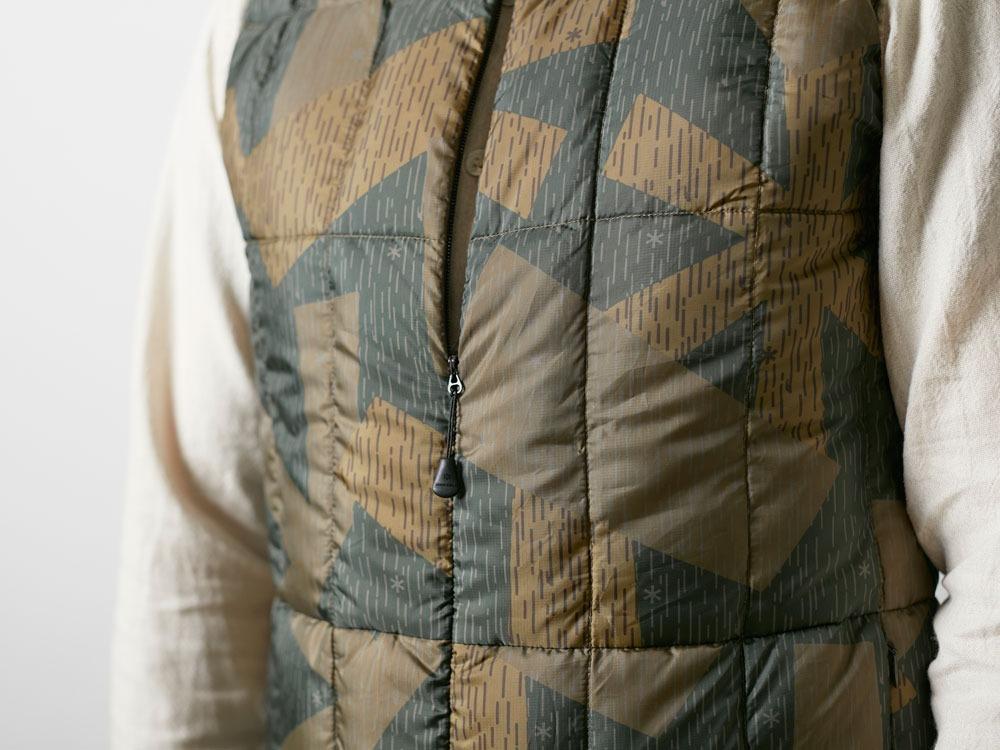 Printed Inner Down Vest 1 Olive5