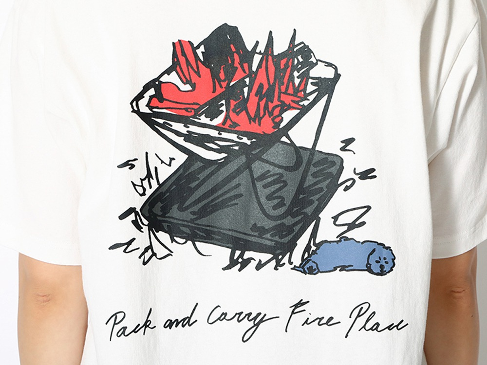 Kid's Printed T Pack&Carry Fireplace 1 WH