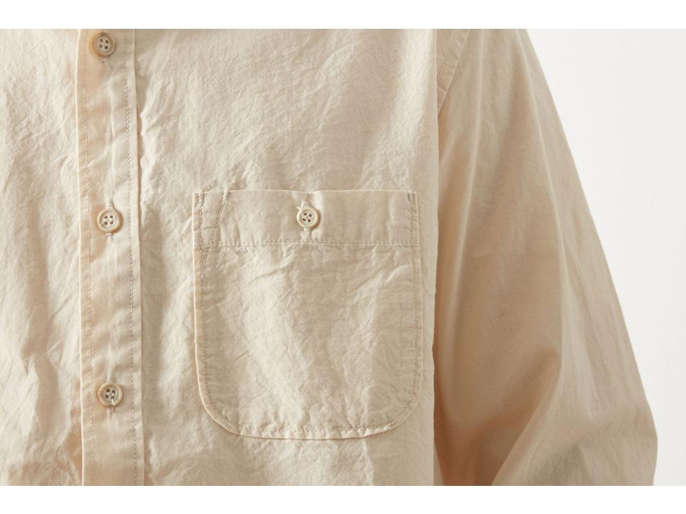 アルティメイトピマ ポプリン スタンドカラー シャツ S OR