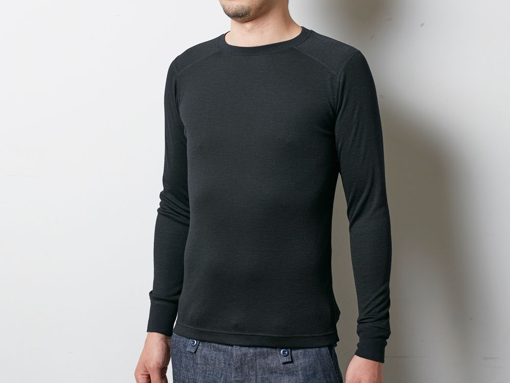 Super 100 Wool Shirt S Black4