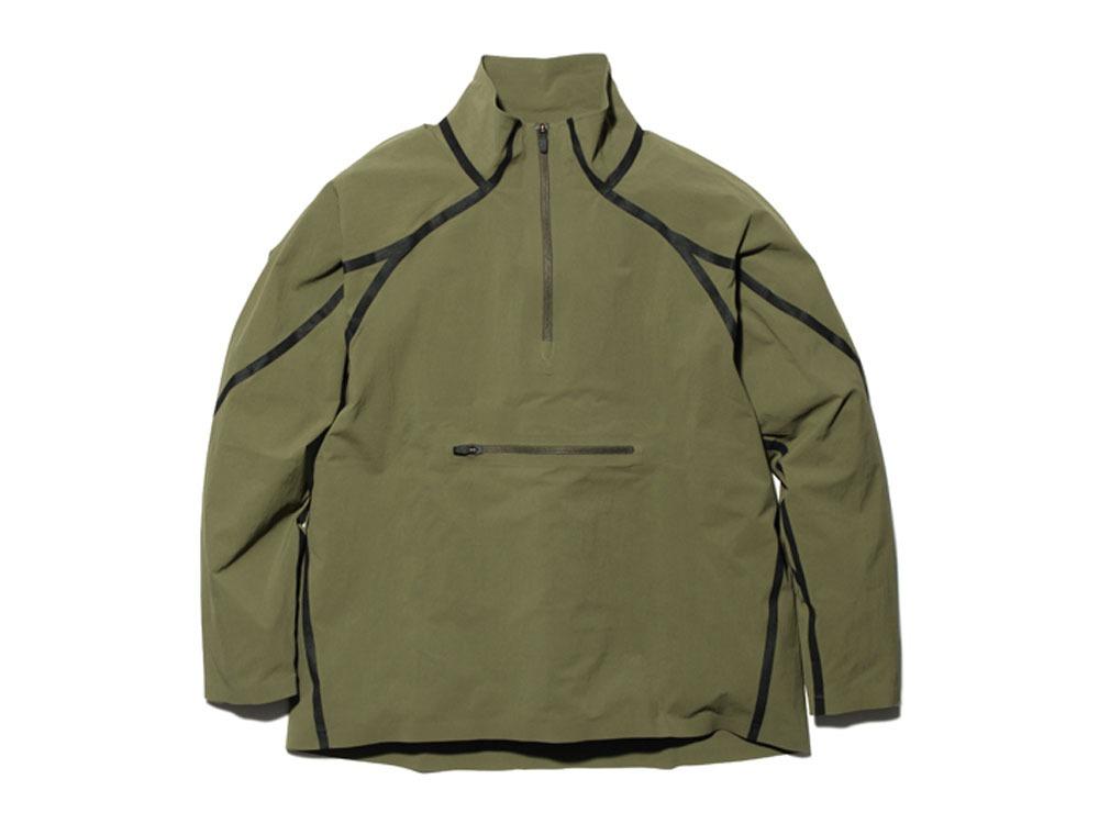 DWR シームレスハーフジップ ジャケット L Olive